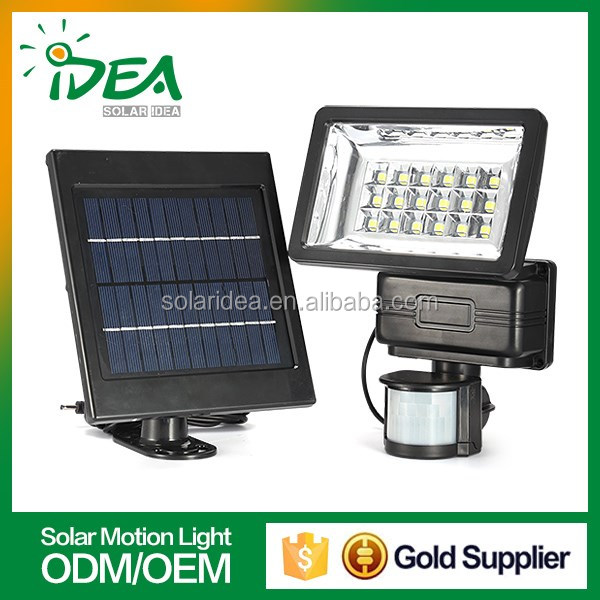 Best quality competitive price outdoor floor and wall security solar led motion sensor light