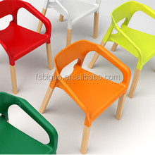 2016 BiGao High Quality Stylish Colorful Stackable Leisure Plastic Wood Chair For Outdoor Garden #B001