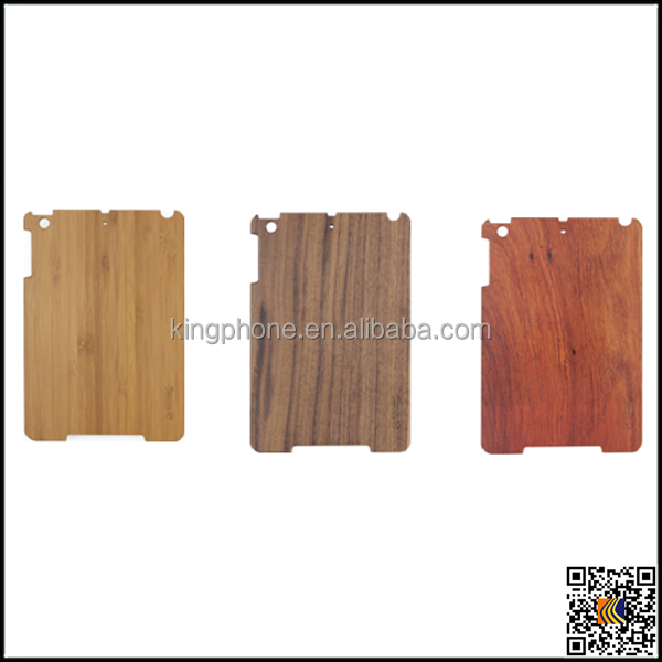 Wholesale pc wood case +fabric cover for iPad mini 2, for ipad mini2 wood case