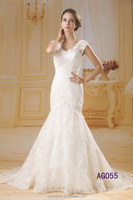 new styles fishtail mermaid wedding dresses with french lace with long train tail 2016 guangzhou