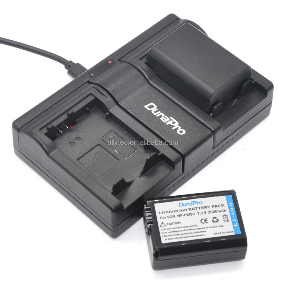 DuraPro USB NP-FW50 Battery Charger for Sony NP FW50
