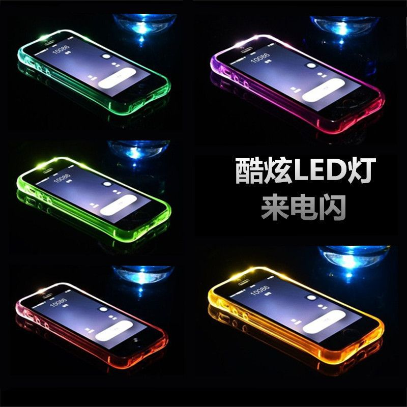 2017 Wholesale Luxury LED Light Luminous Fashion Mobile Phone Case For IPhone 6S 6SPlus,TPU Back Cover For IPhone 7
