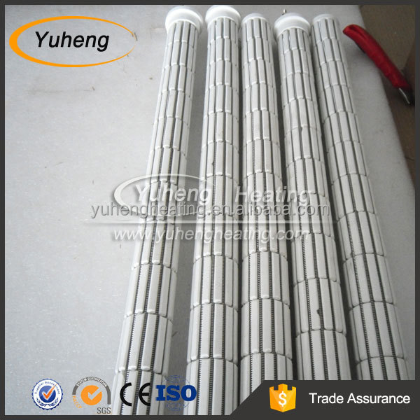 Ceramic radiant tube heating elements for water heater