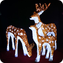 Hot sell christmas decorative reindeer 3d deco light
