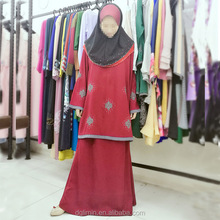 Cheap baju kurung Malaysia Islamic clothing women with hijab