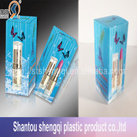 High quality 3D lenticular printing PET plastic lipsticks packing boxes