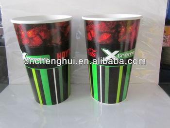 disposable custom cold paper cup 22oz with lid