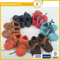 2015 hot sale new fashion soft newborn leather baby moccasins
