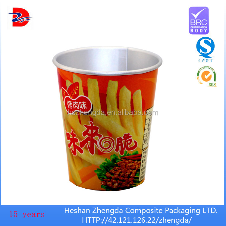 disposable food aluminum foil with lid paper cup for paper backed
