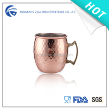 Zeal Stainless Steel Manufacturer Moscow rose solid copper mug