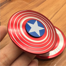 Free sample Anti-Anxiety 360 Fidget Spinner Toy Helps Focusing Premium Quality EDC Hand Spinner Captain America