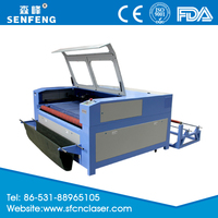 SF1610SC co2 80w automatic feeding cloth laser cutting machine