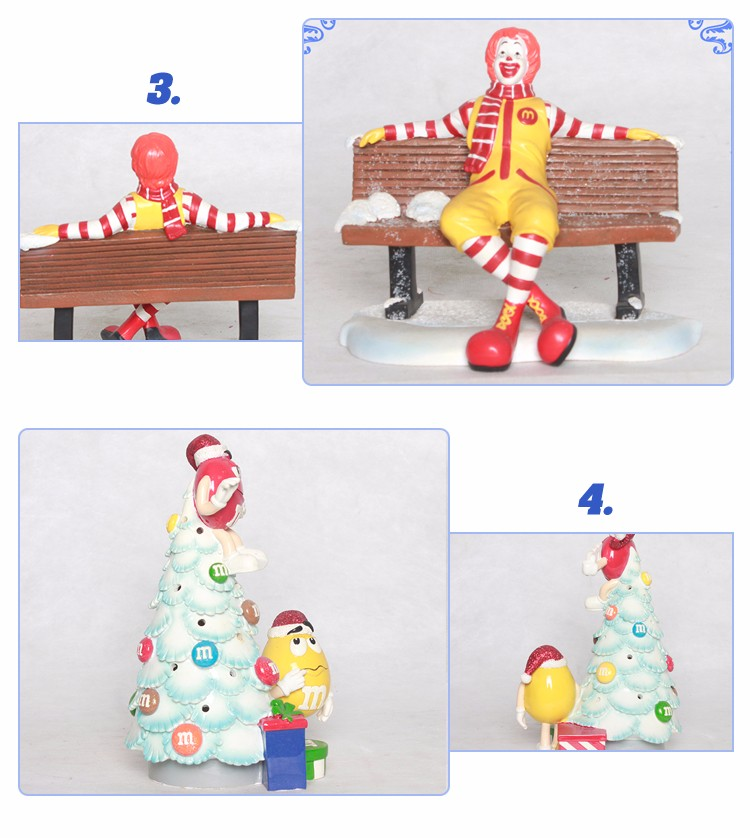 Portable Handmade Resin Christmas Gift Christmas Decoration