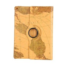 New Design Map Style 360 degree Rotating Stand Universal Tablet Leather Flip Case for Samsung Galaxy Tab A 10.1 T