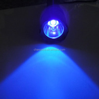 high power rechargeable 365nm uv led flashlight for testing gem