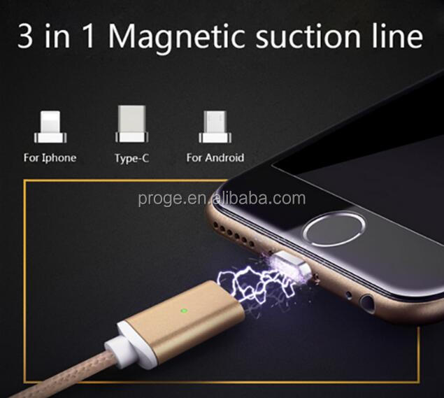 nylon aluminum alloy OTG USB magnetic charger cable for Iphone samsung cellphone