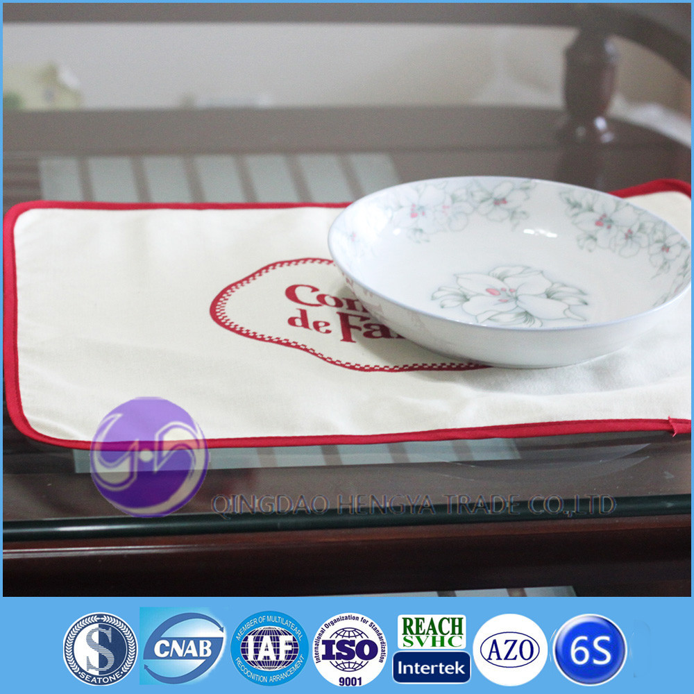 custom printed LOGO plain white table placemat