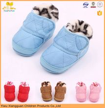 Hign quality baby winter snow boots shoes hard sole newborn baby fur boots shoes for first walk