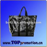 bamboo handle jute tote bag
