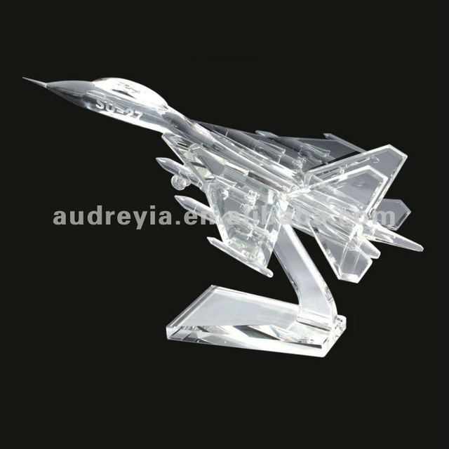 Excellent airplane crystal plane gift making manufacturer