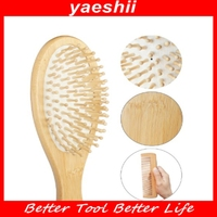 YAESHII Factory direct supply decorative wooden hair comb brushes