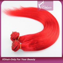 China Hair Factory Hot Sale Brazilian Virgin Hair Extensions Clip in Red Brazilian Hair Weave