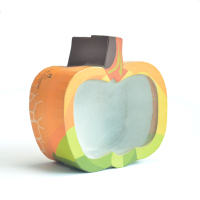 Hot selling apple shaped candy paper box with clear window