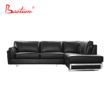 Royal furniture sets black leather cheers sectional sofa