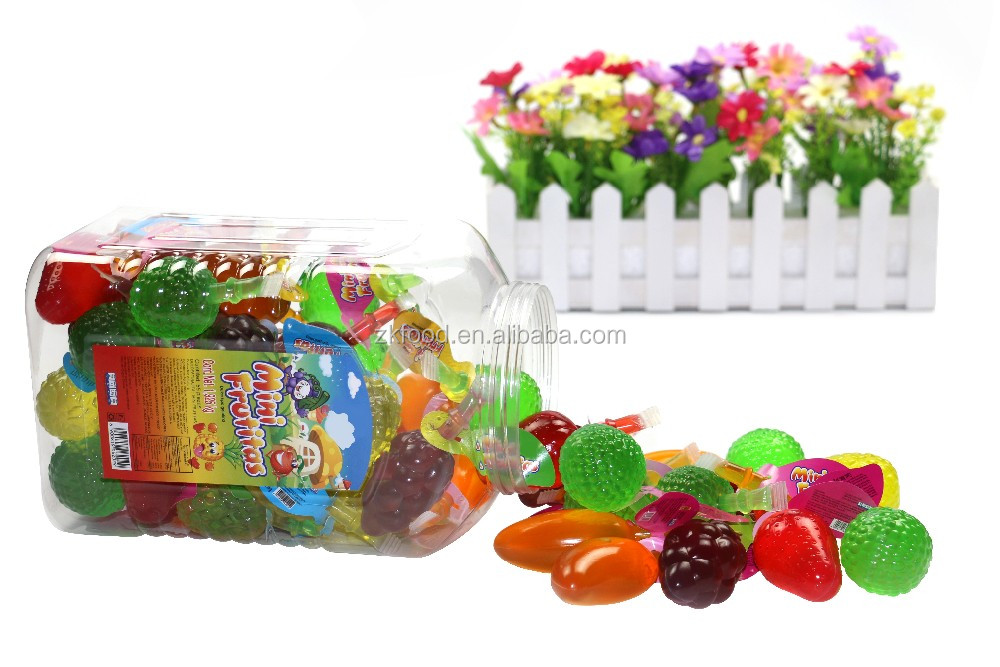Mini fruit shape jelly / mixed fruit jelly / fruit snack