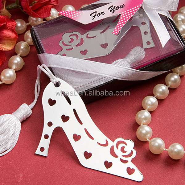 Wedding Favors Stylish Book Lovers Collection Shoe Bookmarks