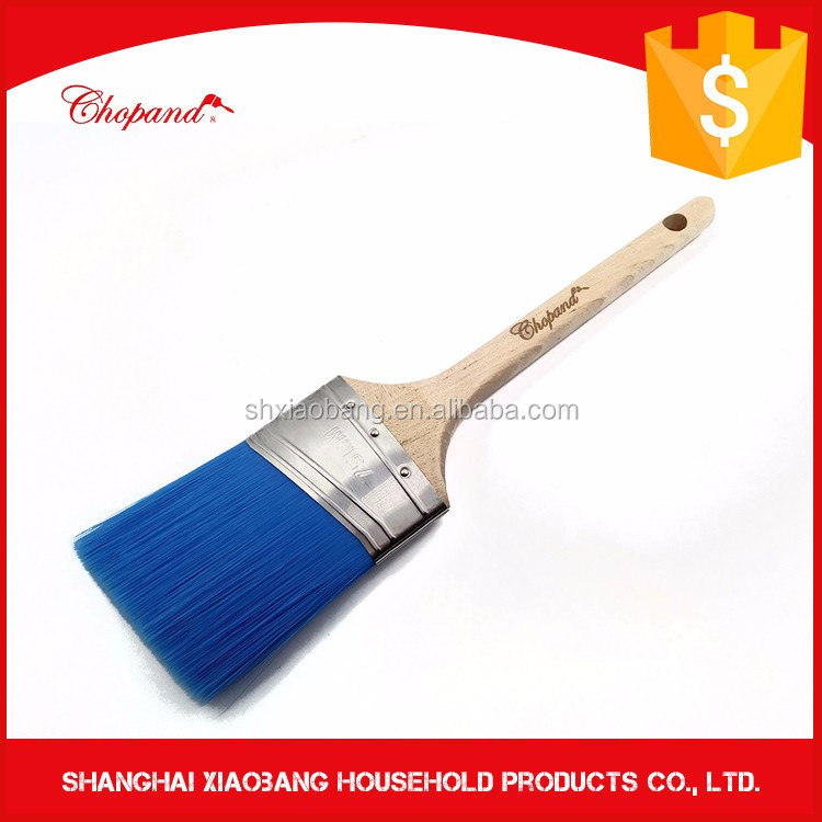 Painting Tools Long Wooden Handle Angle Flat Paint Brush