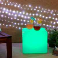 led bar furniture illuminated cube/table for bar/party/outdoor