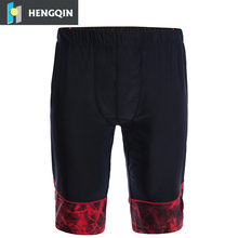 custom made men dry fit gym sport fitness compression shorts