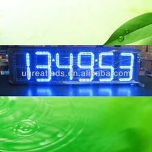 10 inch Outdoor Blue RF Remote Control Portable Led Countdown Timer