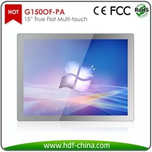 "15"" touch screen monitor with P Cap technology"
