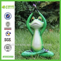 Ornamental Garden Decorative Resin Frog Yoga Handicraft