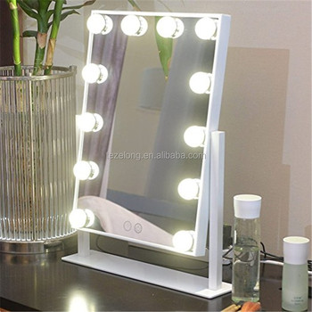 12pcs led bulbs desktop makeup mirror hollywood glow vanity mirror with LED