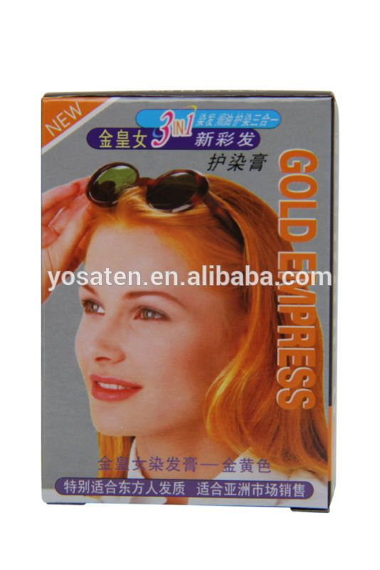 Kim Wong female hair color cream hair dye golden yellow dyeing shampoo wholesale China supplier