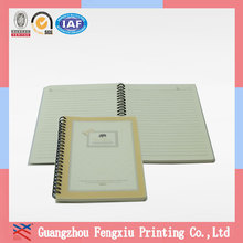 2014 Manufacture Handmade A4 Spiral Notebook with Yellow Paper