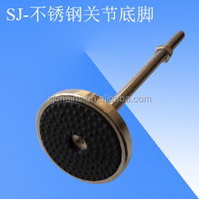 conveyor plastic chains components of SJ-205 stainless steel articulated feet with rubber