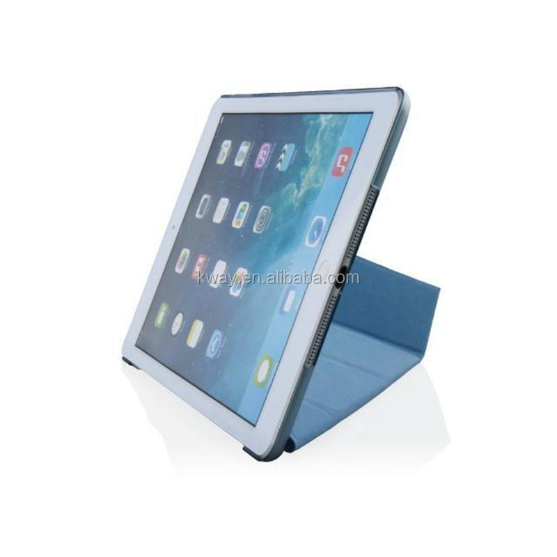 3 folding For iPad air Smart Stand Case Shapes Transformer Cross Pattern Cover For Ipad With Automatic Sleep & Wake Up Function