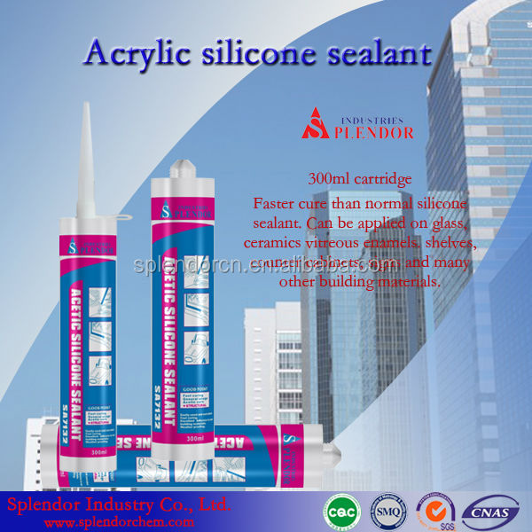 Acetic Silicone Sealant/Multi-purpose silcone sealant for household/colorless silicone sealant