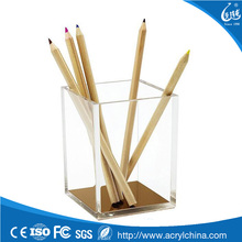 Acrylic Pencil and Pen Holder, Desktop Stationery Organizer Modern Design Office Desk Accessory