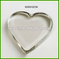 Heart-shape Crystal Paper Weight
