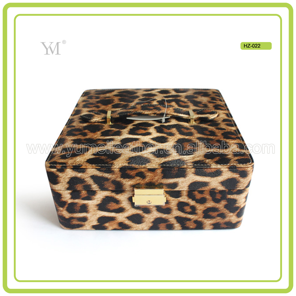 New Cheapest Leopard Travel Cute Makeup Brush case For Lady