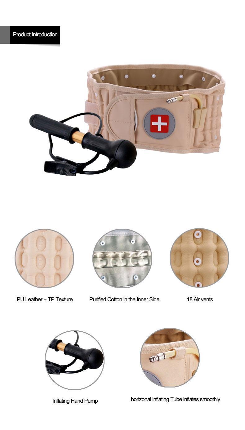 Application corporelle et type de ceinture de massage Ceinture arrière à traction aérienne pour soulager la douleur à la taille