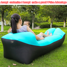 Newest arrival Inflatable beach pillow sofa, Outdoor air bag sofa inflatable lounger nylon