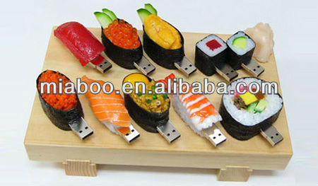 Soft PVC sushi usb flash memory 2.0, promotional gift usb flash disk, 2GB, 4GB, 8GB, 16GB, 32GB, 64GB usb thumb drive