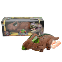 Cartoon electric battery operated toy dinosaur lay eggs