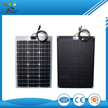 High efficiency Sunpower cell 18W 20V mini flexible solar panel